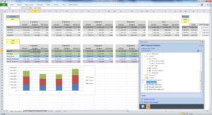 Planning Analytics Excel interface