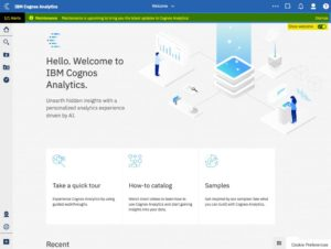 Cognos-Analytics-11.1.4-Welcome-Screen