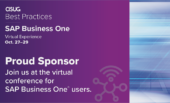 NewIntelligence to Sponsor ASUG Best Practices: SAP Business One (formerly known as Biz.One)